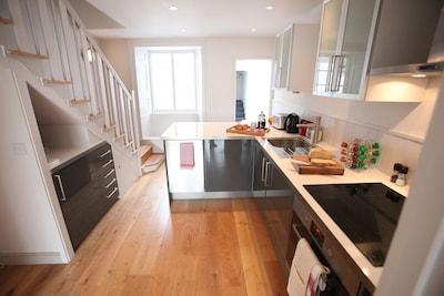 Sociable open plan kitchen area