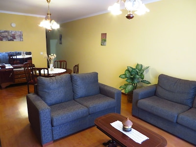 Our cozy living room area