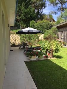 terrasse de devant la maison