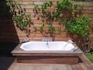 1 bain chaud au clair de lune sous les étoiles et la vigne en fleurs