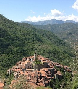 Apricale as seen from above