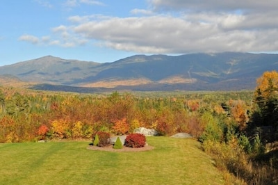 The incredible view of Mt. Washington from our deck