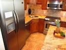 Pro Series S/S appliances including full size dishwasher and in door ice/water