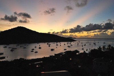 Sunrise Over Coral Bay From Your Private Deck At Coral Bayside Studio.