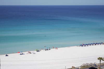 Enjoy watching the dolphins from this balcony view