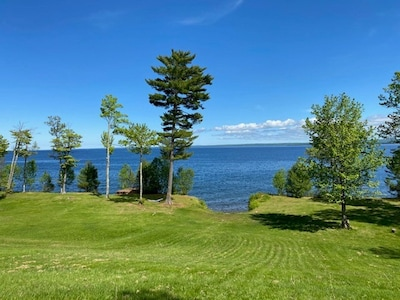 Back lawn overlooking Keweenaw Bay, Lake Superior