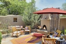 Front courtyard with Kiva Fireplace