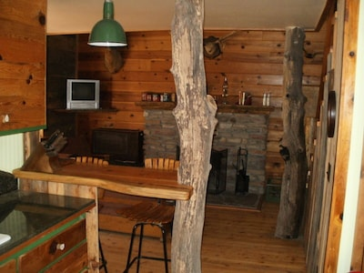 Looking from kitchen to living area.