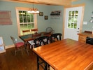 Central Island & Cozy Dining Area with Family's 100 Year Old Chairs