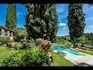 Villa detail, garden & pool area
