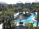 Aerial view of the lagoon pool.