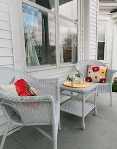Relax on the front porch with a cool drink.