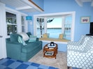 SeaGlass Cottage Main Living Area