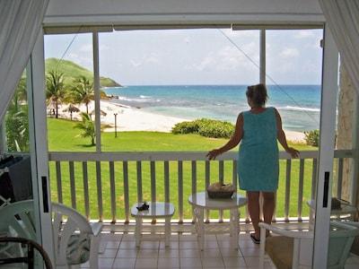 Gorgeous beach & ocean views from our beachfront location!