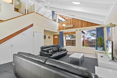 Living area showing upper level