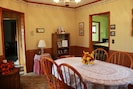 Dining Room. Nice oak table with 6 chairs.