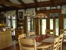 Greatroom dining towards sunroom