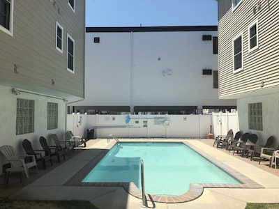 Professionally maintained heated pool - private for this association of 12 units