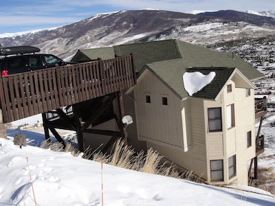 Our home sits up high in Mesa Cortina w/ Amazing Views of the Lake Dillon!
