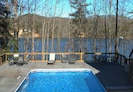 The pool and large deck overlooking beautiful Lake Lanier