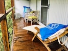 The perfect verandah to relax and listen to the birdlife.