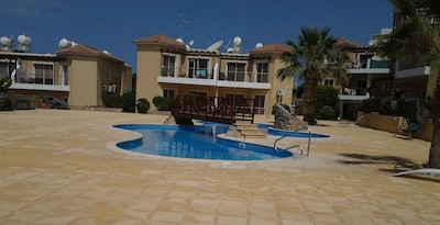 Lagoon Style Swimming Pool, Sunbeds, Class A Complex! View from Apartment
