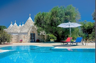Stunning Rare Trullo Villa Close to Ostuni and Ceglie Messapica