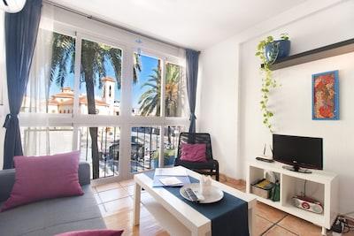 Dream in Blue, Magnífico apartamento de 2 dormitorios y 4 personas a 250 metros de la playa