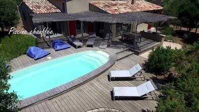 Piscine privée et chauffée - Villa à Bonifacio