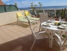 Large terrace overlooking the beach