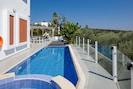 Stimulating pool surroundings.