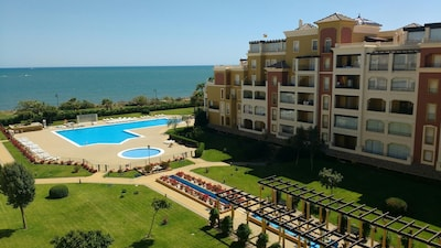 Isla Canela - Apartamento familiar frente a la playa de 2 dormitorios con vistas al mar