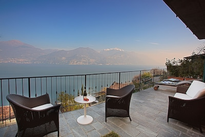 The view from your terrace as viewed in winter here at Casa Paradiso In Menaggio