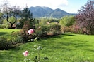 Garden with wonderful Brauneck-view