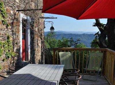 Die Terrasse mit Weitblick