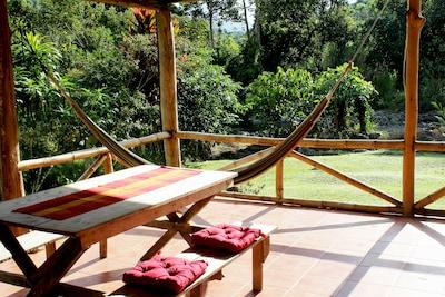 Finca Pura Vida: Vacation Home Casa Tucán Roofed Terrace