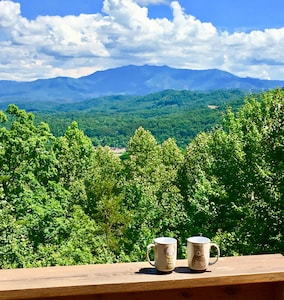 Every morning is a great morning for coffee on the deck.