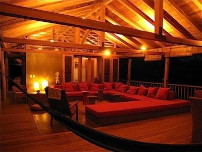 Casa Ganesha - Upper Deck Night View