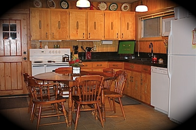 Updated kitchen with granite, new appliances, stocked for all your cooking needs