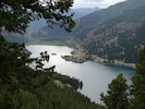Lake San Cristobal, just 10 minutes from the cabin, is the picturesque namesake