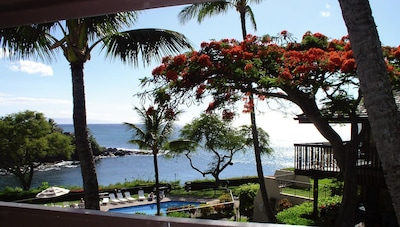 View of snorkel cove from the lanai