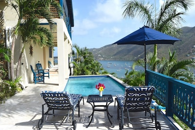 Private saline pool with great views of Coral Bay