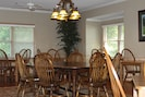 Our spacious dining area seats 28