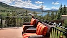 Great view of Lake Dillon and Keystone Resort from the deck