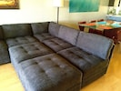 Sectional converted into sleeping area 5-412