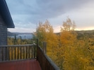 Fall view of changing aspens from Deck