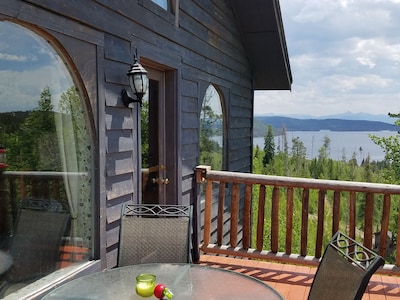 An example of the great view of Shadow Mountain Lk and Mountains from our deck