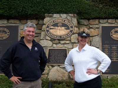 Owners Walt and Jana Lane at Pebble Beach, CA.  Cabo has excellent golf courses!