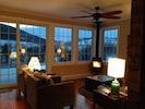 Living area in Winter.