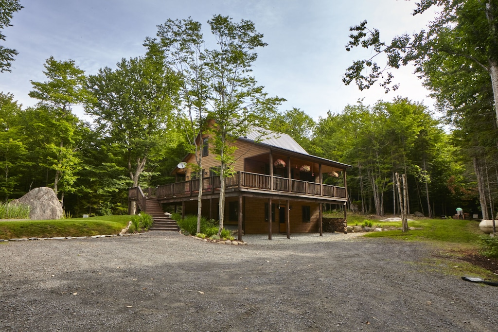 Rock Haven At North Street Wooded Cabin Retreat In Old Forge Ny Town Of Webb